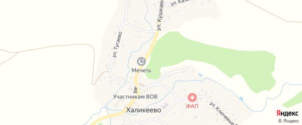 Центральная улица на карте села Халикеево с номерами домов
