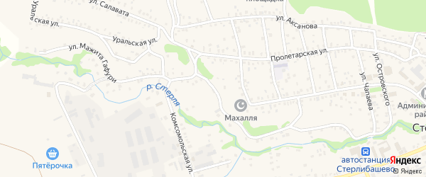 Улица М.Гафури на карте села Стерлибашево с номерами домов