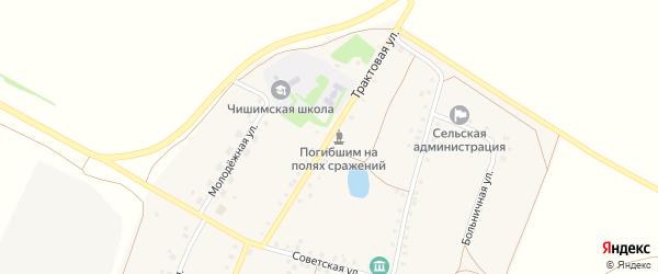 Трактовая улица на карте села Чишмы с номерами домов