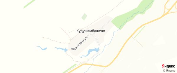 Карта деревни Кудушлибашево в Башкортостане с улицами и номерами домов