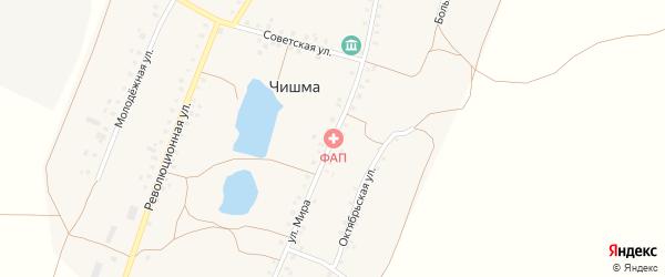 Улица Мира на карте села Чишмы с номерами домов