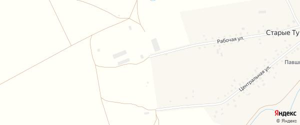 Рабочая улица на карте села Старые Тукмаклы с номерами домов
