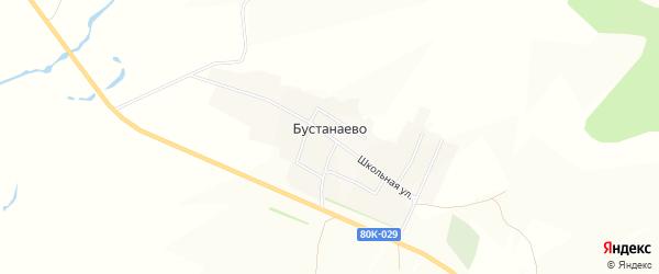 Карта деревни Бустанаево в Башкортостане с улицами и номерами домов