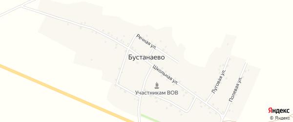 Луговая улица на карте деревни Бустанаево с номерами домов