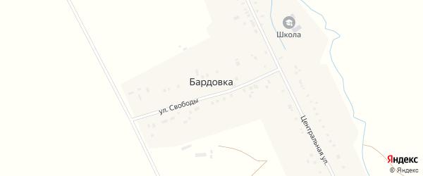Степная улица на карте села Бардовки с номерами домов