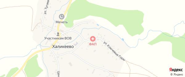 Улица Ключевые горы на карте села Халикеево с номерами домов