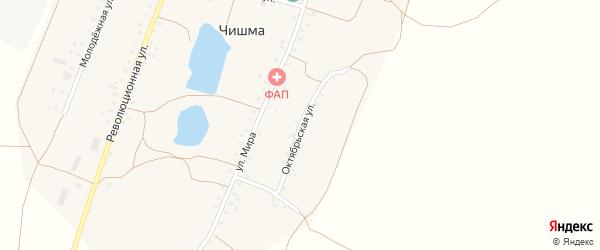 Октябрьская улица на карте села Чишмы с номерами домов