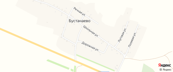 Полевая улица на карте деревни Бустанаево с номерами домов