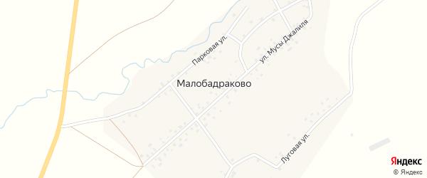 Улица М.Джалиля на карте деревни Малобадраково с номерами домов