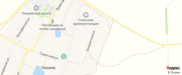 Больничная улица на карте села Чишмы с номерами домов