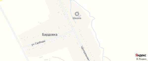 Центральная улица на карте села Бардовки с номерами домов