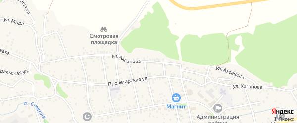 Улица Аксанова на карте села Стерлибашево с номерами домов