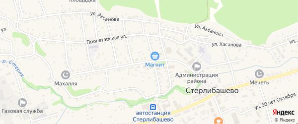 Улица Карла Маркса на карте села Стерлибашево с номерами домов