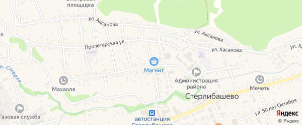 Улица Чапаева на карте села Стерлибашево с номерами домов