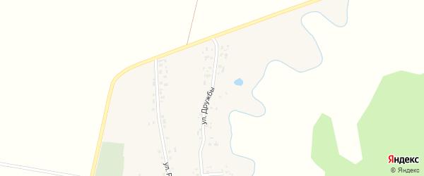 Улица Дружбы на карте деревни Кушманаково с номерами домов