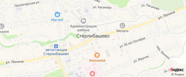 Улица Жукова на карте села Стерлибашево с номерами домов