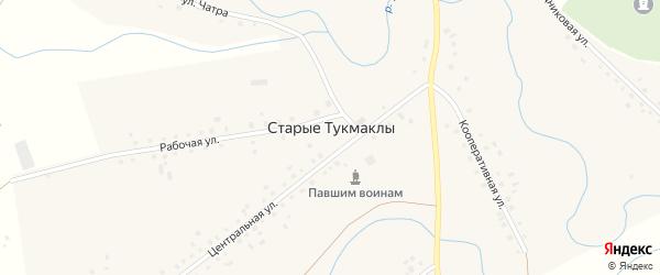 Кооперативная улица на карте села Старые Тукмаклы с номерами домов