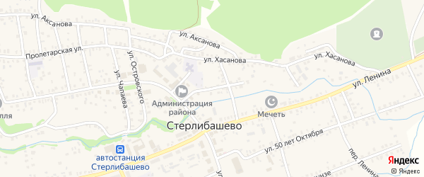 Улица Худайбердина на карте села Стерлибашево с номерами домов