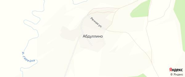 Карта деревни Абдуллино в Башкортостане с улицами и номерами домов