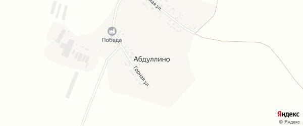 Речная улица на карте деревни Абдуллино с номерами домов