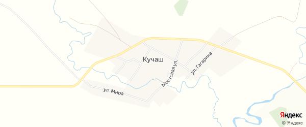 Карта села Кучаш в Башкортостане с улицами и номерами домов
