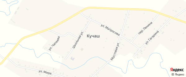 Переулок Гагарина на карте села Кучаш с номерами домов