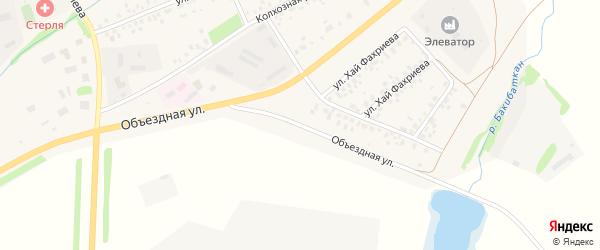 Объездная улица на карте села Стерлибашево с номерами домов