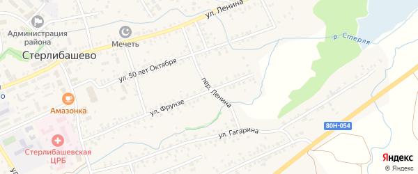 Переулок Ленина на карте села Стерлибашево с номерами домов