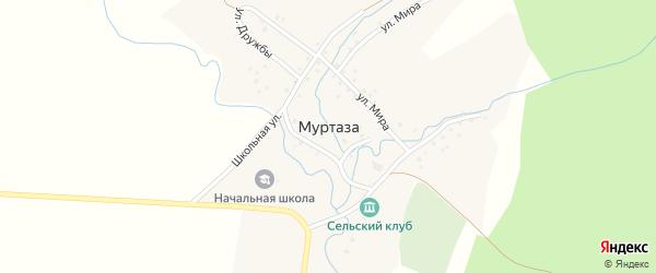 Улица Дружба на карте деревни Муртазы с номерами домов