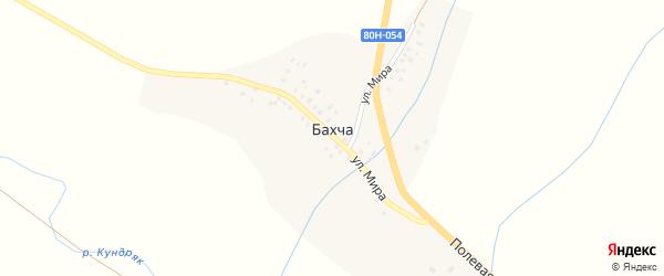Полевая улица на карте деревни Бахчи с номерами домов
