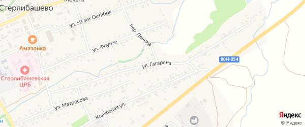 Улица Гагарина на карте села Стерлибашево с номерами домов