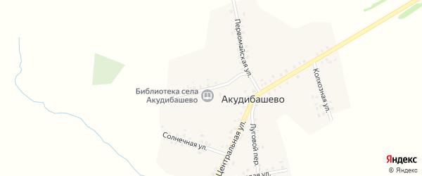 Школьная улица на карте села Акудибашево с номерами домов