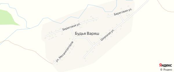 Улица Механизаторов на карте деревни Будья Варяш с номерами домов