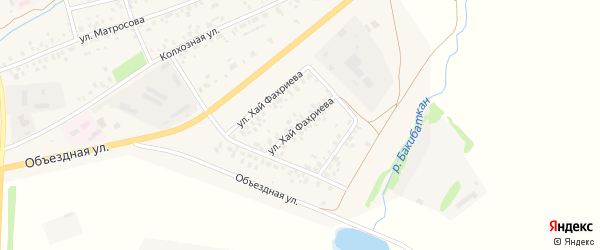 Улица Хай Фахриева на карте села Стерлибашево с номерами домов