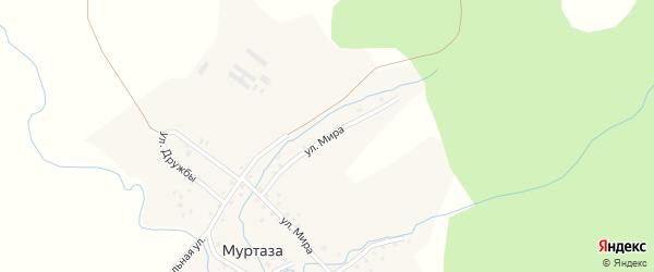 Улица Мира на карте деревни Муртазы с номерами домов