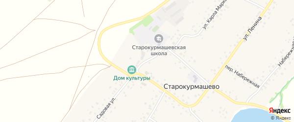 Парковая улица на карте села Старокурмашево с номерами домов