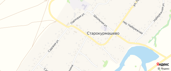 Комсомольская улица на карте села Старокурмашево с номерами домов
