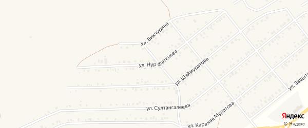 Улица Нур Фаткиева на карте села Стерлибашево с номерами домов