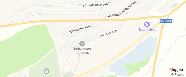 Нагорная улица на карте села Стерлибашево с номерами домов