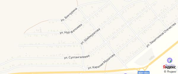 Улица Шаймуратова на карте села Стерлибашево с номерами домов