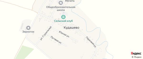 Южная улица на карте деревни Кудашево с номерами домов