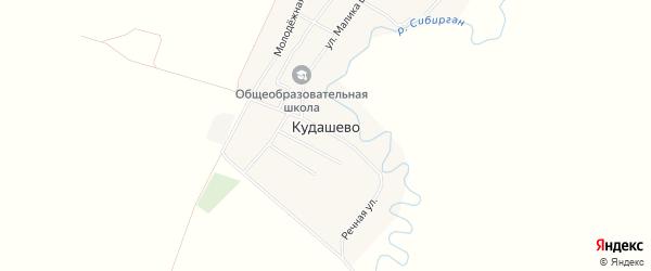 Карта деревни Кудашево в Башкортостане с улицами и номерами домов