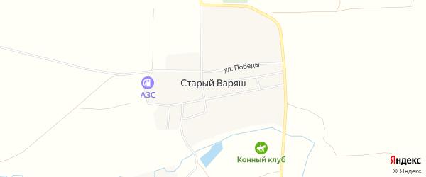 Карта села Старого Варяша в Башкортостане с улицами и номерами домов