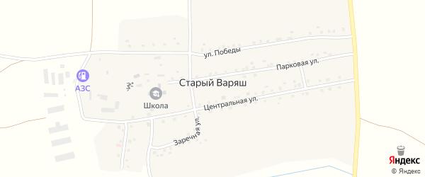 Заречная улица на карте села Старого Варяша с номерами домов