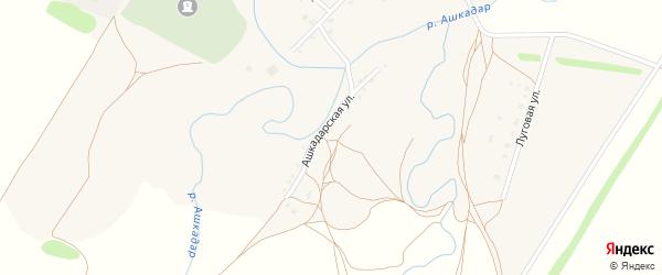 Ашкадарская улица на карте села Ижбуляка с номерами домов