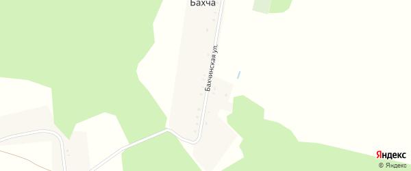 Бахчинская улица на карте деревни Бахчи с номерами домов