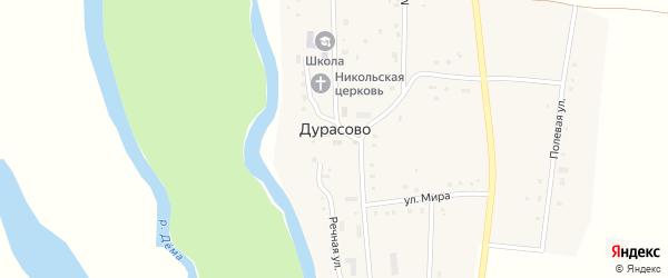 Шоссейная улица на карте села Дурасово с номерами домов