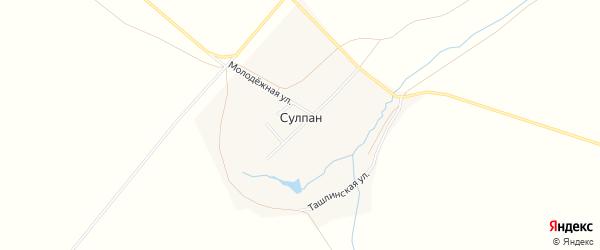 Карта деревни Сулпана в Башкортостане с улицами и номерами домов