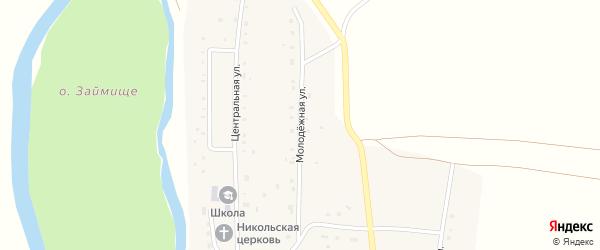 Молодежная улица на карте села Дурасово с номерами домов