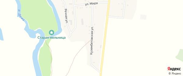 Кузембетовская улица на карте села Дурасово с номерами домов